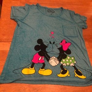 Disney graphic long shirt with Mickey & Minnie XL